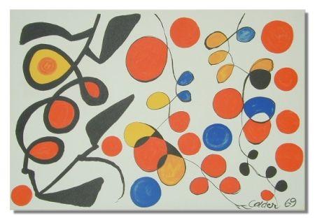 リトグラフ Calder - Spring Carnival