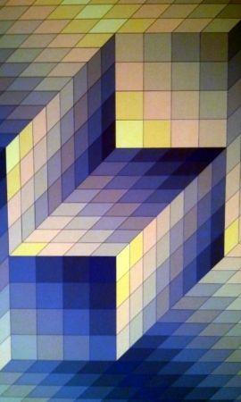 リトグラフ Vasarely - S/T