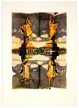 リトグラフ Bury - Statue de la liberté