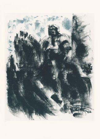 リトグラフ Masson - Statue du Colleoni, la nuit (Voyage à Venise)