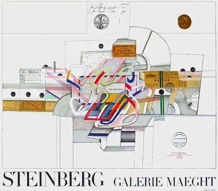 掲示 Steinberg - STEINBERG 1970. Galerie Maeght. Affiche en lithographie.