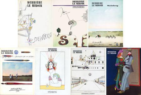 挿絵入り本 Steinberg - STEINBERG. Collection complète des 7 volumes de la revue DERRIÈRE LE MIROIR consacrés à Steinberg (de 1953 à 1980).