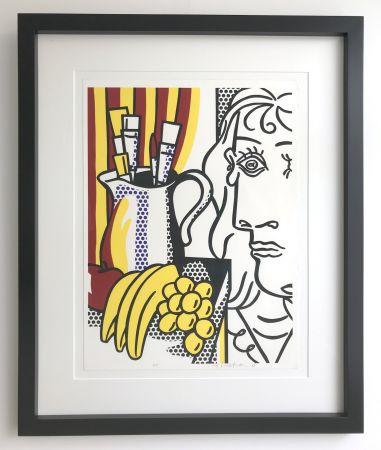 シルクスクリーン Lichtenstein - Still life with Picasso