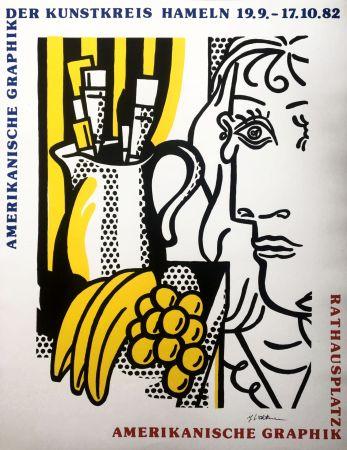 シルクスクリーン Lichtenstein - Still Life with Picasso (Hand Signed) Pop Art Poster 1982