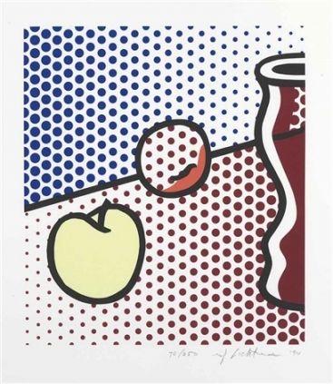 シルクスクリーン Lichtenstein - Still Life with Red Jar