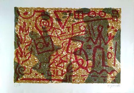 リトグラフ Penck - Stones and Shadows