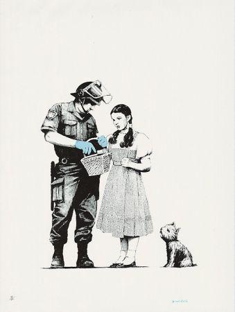 シルクスクリーン Banksy - Stop And Search