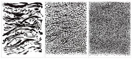 リトグラフ Uecker - Strömung, 2010 - 3 Blätter