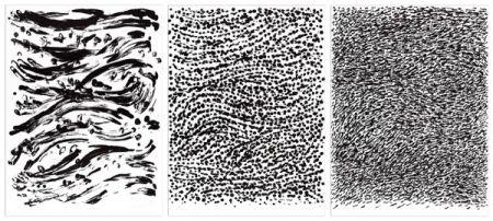 リトグラフ Uecker - Strömung (Flow), 3 sheets