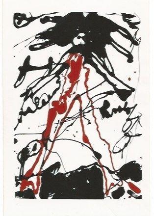 シルクスクリーン Oldenburg - Striding figure