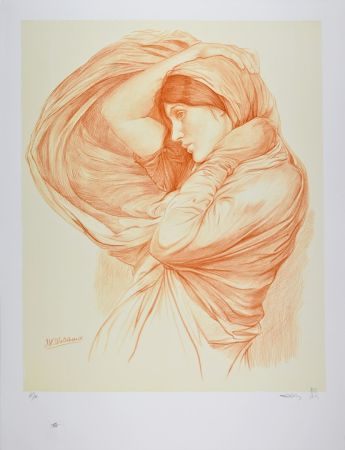 リトグラフ Waterhouse - Study for Boreas, 1904