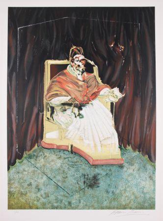 リトグラフ Bacon - Study For Portrait Of Pope Innocent X After Velasquez