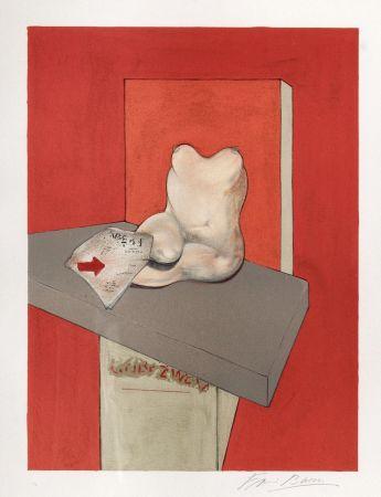 リトグラフ Bacon - Study for the human body from a drawing by Ingres