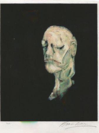 リトグラフ Bacon - Study portrait after the life mask of William Blake