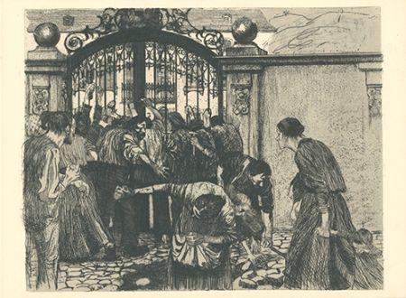 彫版 Kollwitz - Sturm (Bild 5 aus dem Zyklus