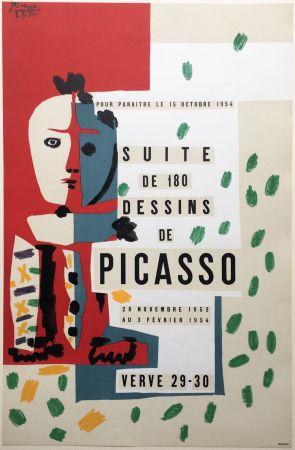 リトグラフ Picasso - SUITE DE 180 DESSINS. VALLAURIS VERVE 29-30. 1953-1954