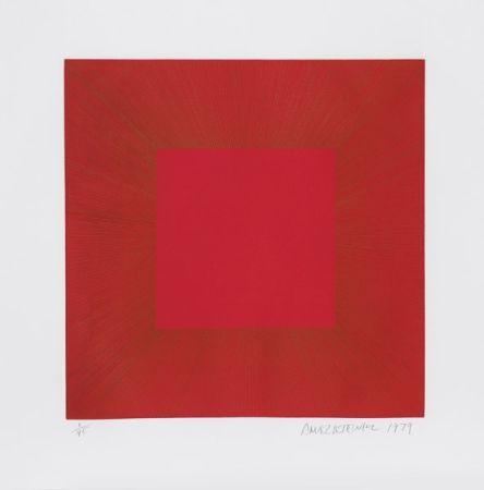 アクチアント Anuszkiewicz - Summer Suite (Red with Gold I)