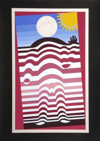 シルクスクリーン Vasarely - Sunbather