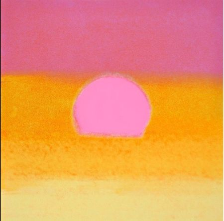 シルクスクリーン Warhol - Sunset(Unique)(Pink/yellow)