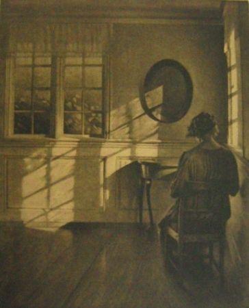 メゾチント彫法 Ilsted - Sunshine - Monochrome
