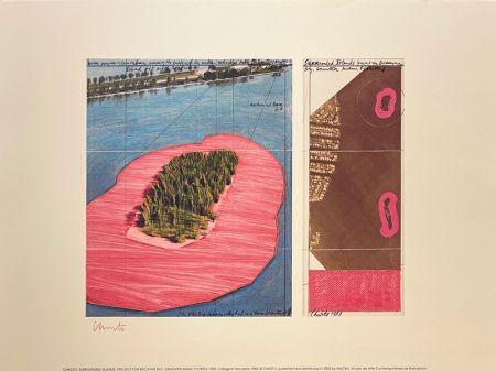 リトグラフ Christo - Surronded islands, Miami