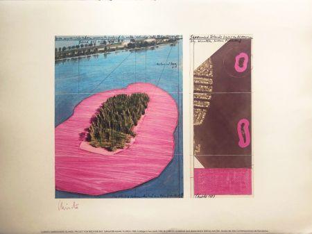 リトグラフ Christo - SURROUNDED ISLANDS MACBA BARCELONA 56X76