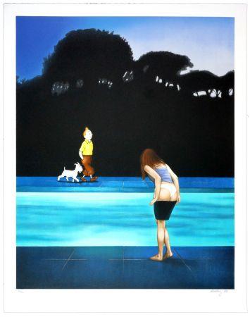 リトグラフ Ahlberg - Swimming Pool