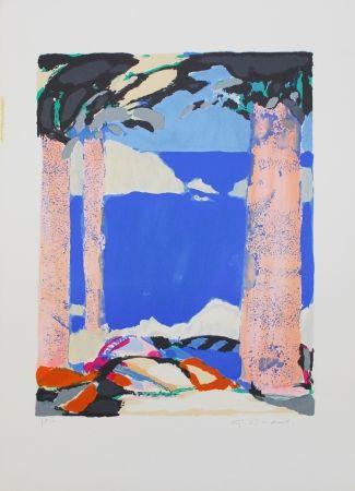 リトグラフ Godard - Symphonie en bleu IV