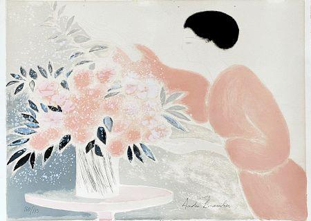 リトグラフ Brasilier - Symphonie en Rose