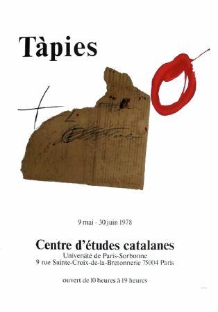 掲示 Tàpies - TÀPIES 78. Affiche pour une exposition à La Sorbonne, Paris.