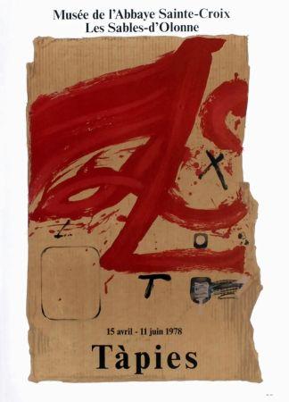 掲示 Tàpies - TÀPIES 78. Affiche pour une exposition à l'Abbaye de Sainte Croix.