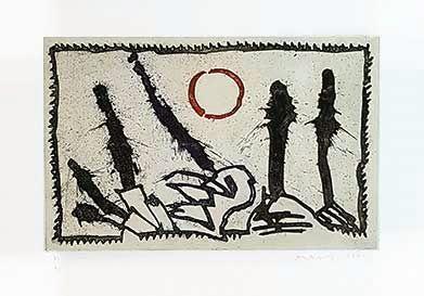 彫版 Alechinsky - Tâches d'exclamation
