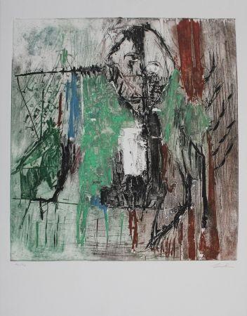 エッチングと アクチアント Bissière - Tête au milieu des arbres / Head Amidst the Trees