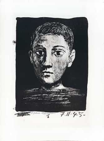リトグラフ Picasso - Tête De Jeune Garçon