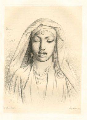 彫版 Gérôme - Tête de negresse du Hedjaz