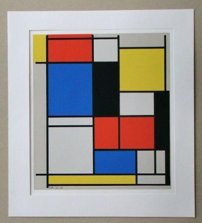 シルクスクリーン Mondrian - Tableau II. - 1921/25