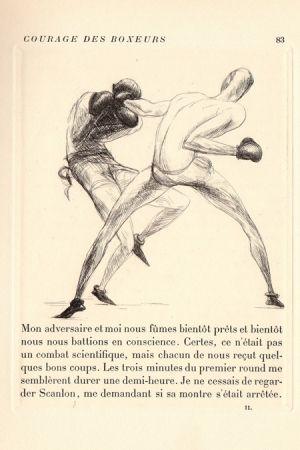 挿絵入り本 De Segonzac - Tableaux contemporains: Tableau des Courses, de la Boxe, de la Vénérie, de l'Amour Vénal, des Grands Magasins, de la Mode, de l'Au-Delà, du Palais, de la Bourgeoisie.