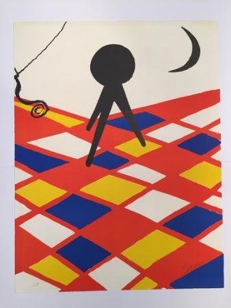 リトグラフ Calder - Tabouret à trois pieds