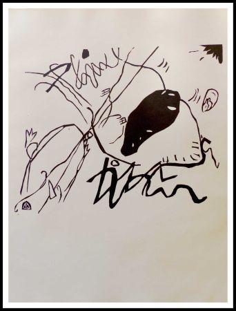 木版 Kandinsky - TACHE NOIRE