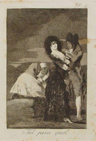 彫版 Goya - Tal para cual