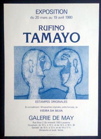 掲示 Tamayo - Tamayo - Estampes Originales - Galerie de May 1980