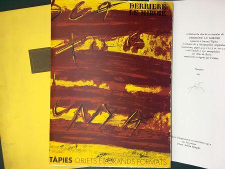 挿絵入り本 Tapies - TAPIES : Objets et grands formats. DERRIÈRE LE MIROIR N° 200. 1972 - DE LUXE SIGNÉ.