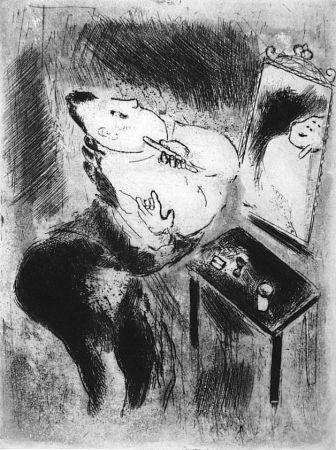 エッチング Chagall - Tchitchikov Se Rase