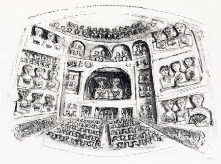 リトグラフ Campigli - Teatro