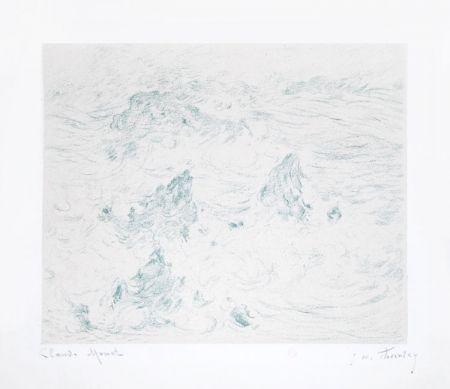 リトグラフ Monet - Tempête à Belle-île