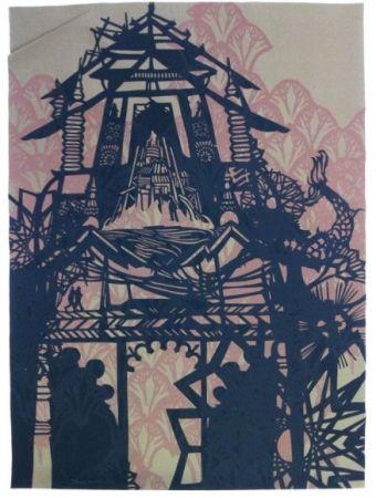 シルクスクリーン Swoon - Temple
