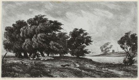 彫版 Daubigny - Temps d'orage