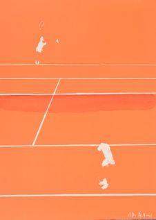 リトグラフ Aillaud - Tennis