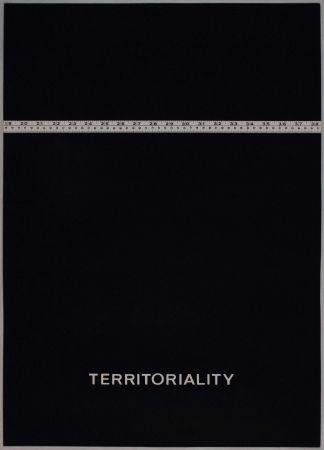 リトグラフ Agnetti - Territoriality from 'Spazio perduto e spazio costruito' portfolio, Plate H