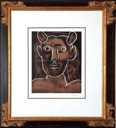 リノリウム彫版 Picasso - Tete De Faune (B. 1094)